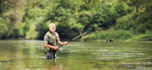 Man in a fishing trip