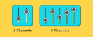 Hearing aids with 2 and 5 channels